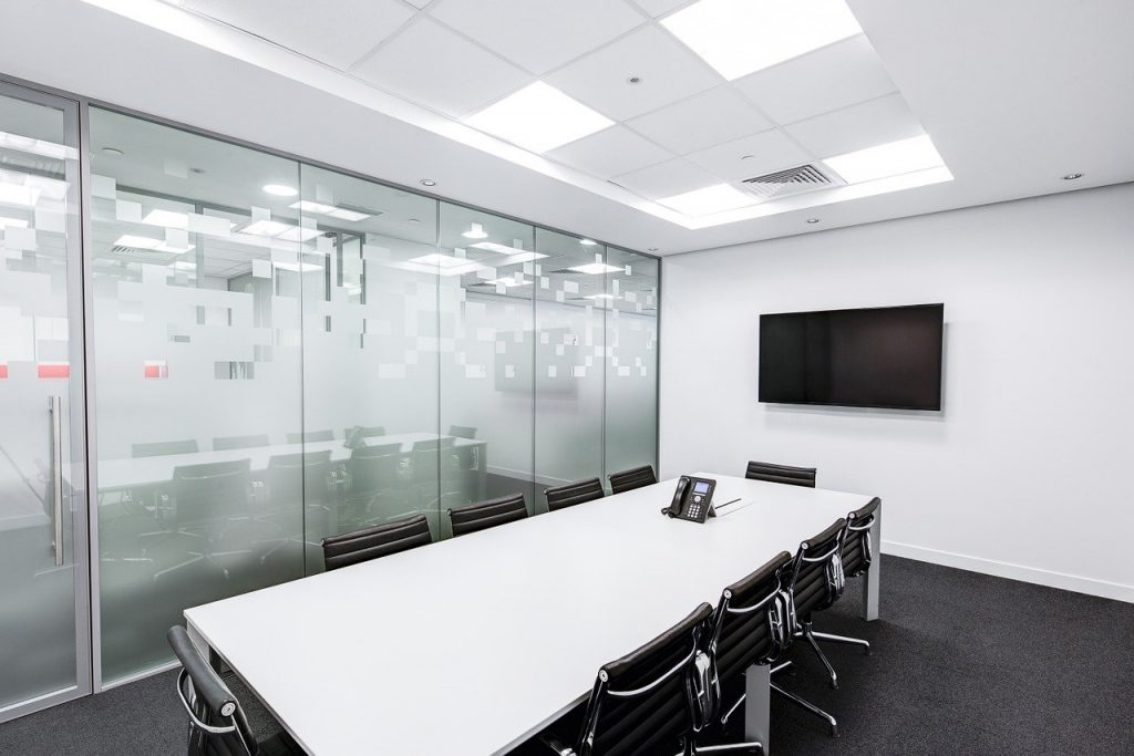 Empty board room.